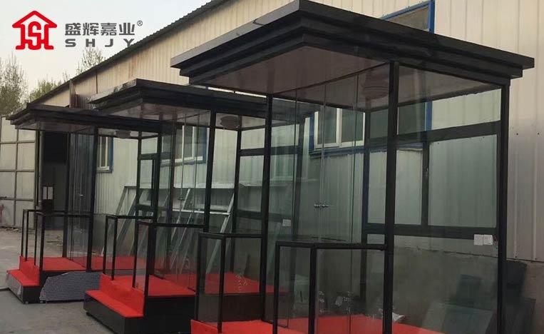 碳钢玻璃岗亭