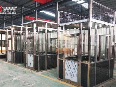 北京某别墅定制艺术岗亭-盛辉嘉业用不锈钢岗亭量身打造,高端大气
