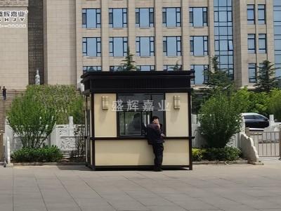 北京岗亭生产厂家——为小区量身定制真石漆岗亭