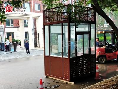 艺术岗亭——不锈钢岗亭制作;成就小区别一番风格