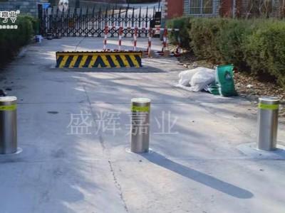 防撞升降柱——北京某部队家属院投入使用