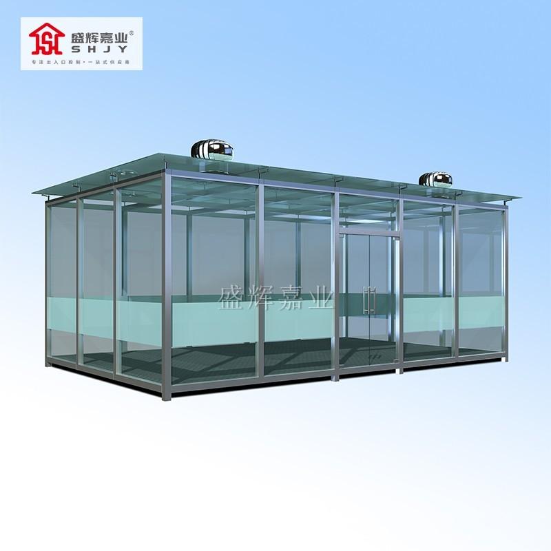 钢化玻璃吸烟室