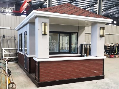 陕西铜川定制的真石漆岗亭由北京岗亭生产厂家制作完成