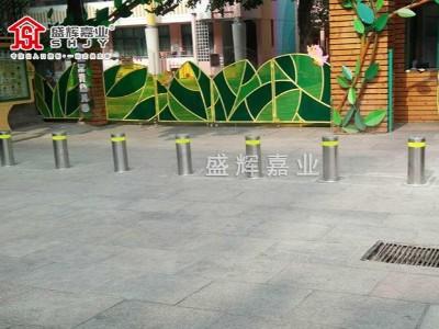 北京海淀常青幼儿园学校门口升降柱--【盛辉嘉业】提供