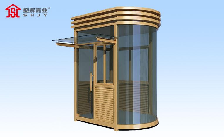 钢结构玻璃保安岗亭