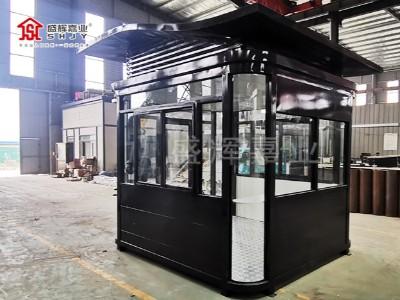 钢结构保安岗亭——盛辉嘉业岗亭厂家制作完成装车发往甘肃