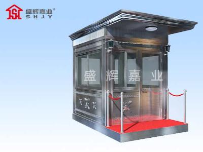 门卫保安岗亭厂家生产材料决定了岗亭的品质