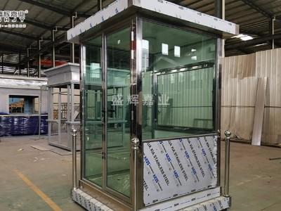 不锈钢防弹玻璃岗亭-盛辉嘉业为北京某部队提供