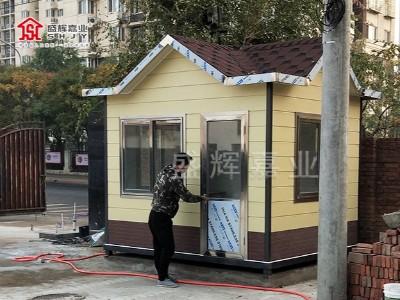 北京某小区欧式保安值班室安置完毕——北京岗亭厂家提供已投入使用