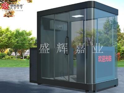 北京市某部队防弹玻璃岗亭——盛辉嘉业岗亭厂家制作完成