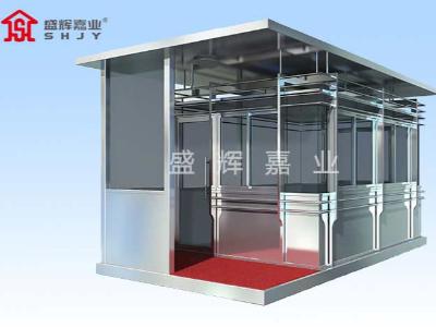廊坊碳钢岗亭通过简单涂抹覆盖岗亭表面的图层